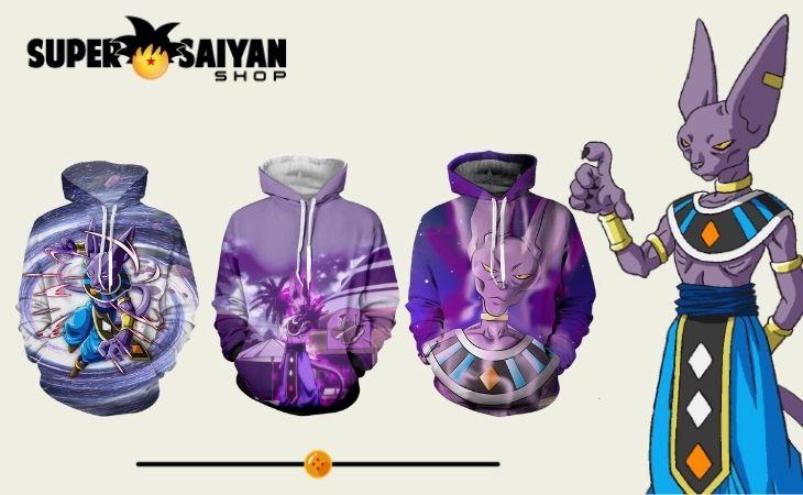 beerus hoodies