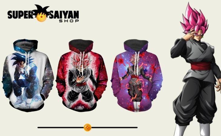 goku black hoodies