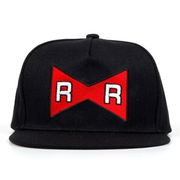 android 13 red ribbon black snapback cap 2
