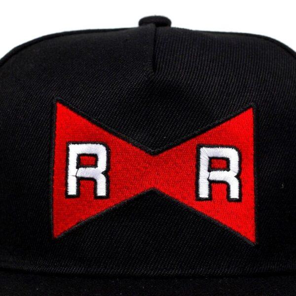 android 13 red ribbon black snapback cap 3
