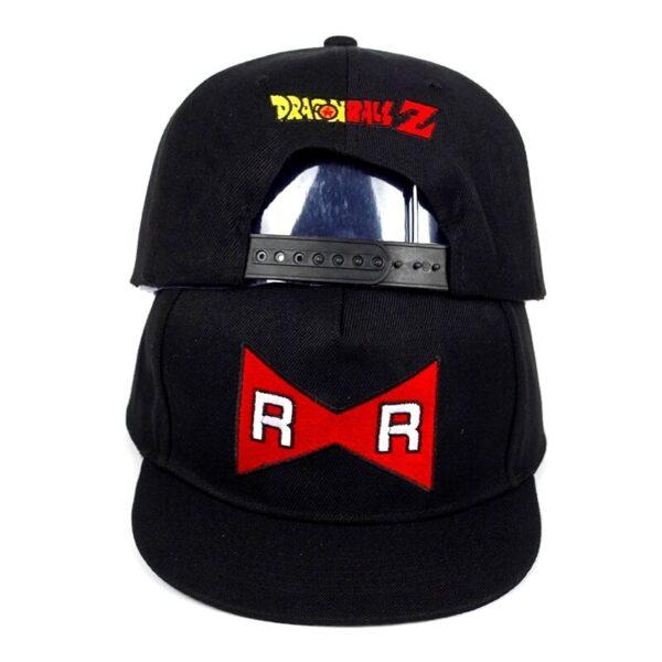 android 13 red ribbon black snapback cap