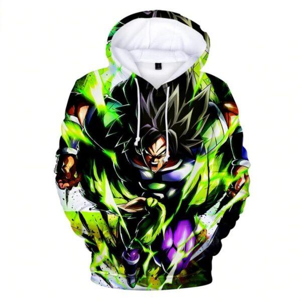 broly extreme wrathful super saiyan hoodie