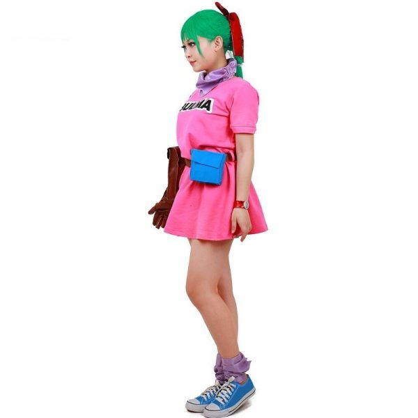 bulma cosplay costume dress side