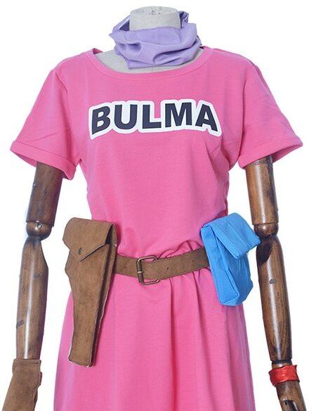 bulma cosplay costume pink dress 3