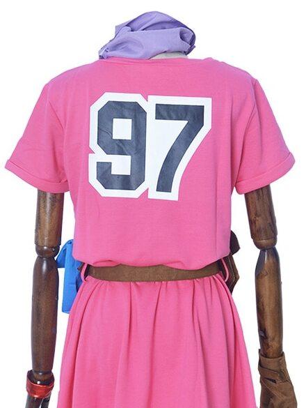 bulma cosplay costume pink dress back