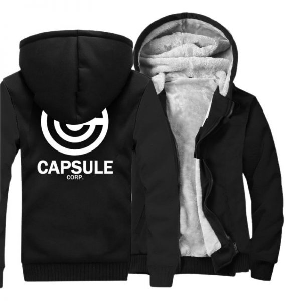 capsule corp trunks fleece black jacket