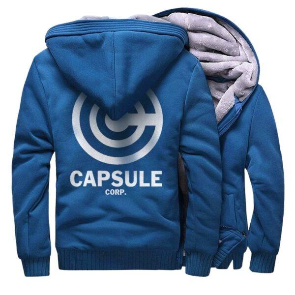 capsule corp trunks fleece blue jacket