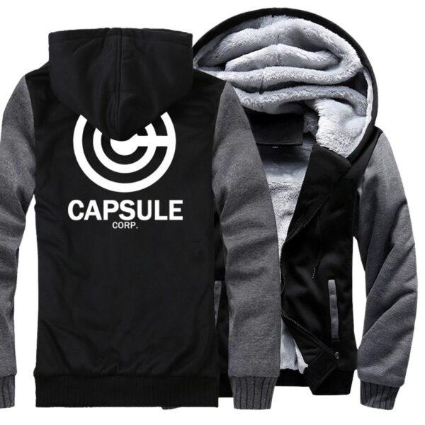 capsule corp trunks fleece dark grey jacket