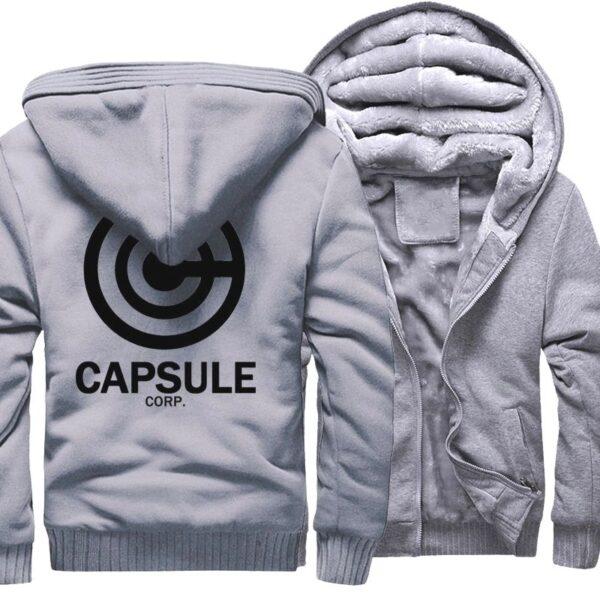 capsule corp trunks fleece grey jacket