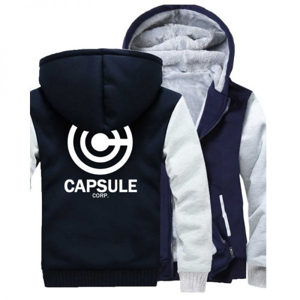 capsule corp trunks fleece navy jacket