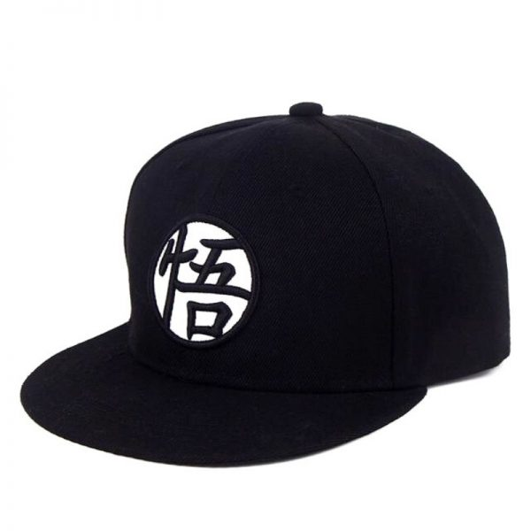 dragon ball z goku kanji black snapback cap