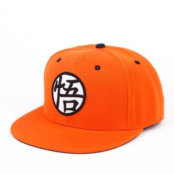 dragon ball z goku kanji orange snapback cap