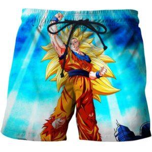dragon ball z goku ssj3 power shorts