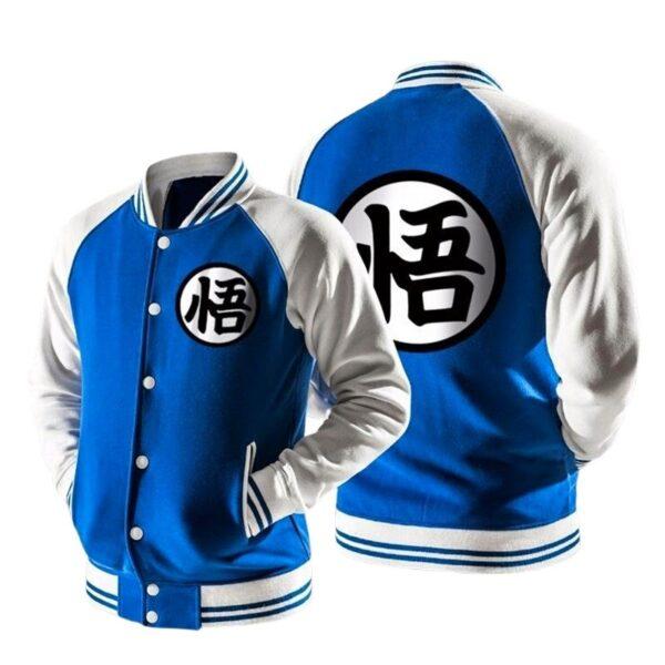 dragon ball z varsity letterman blue jacket
