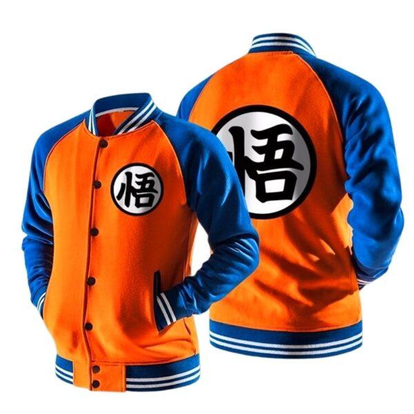 dragon ball z varsity letterman orange jacket