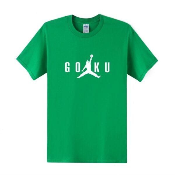 goku air jordan meme green t shirt