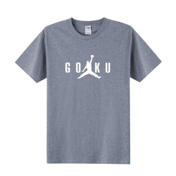 goku air jordan meme grey t shirt