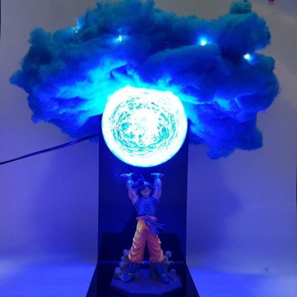 goku blue genkidama cloud diy 3d lamp