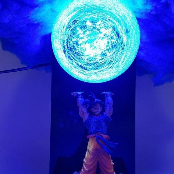 goku blue genkidama cloud diy 3d lamp zoom