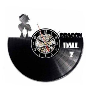 goku in the dark vinyl record wall clock