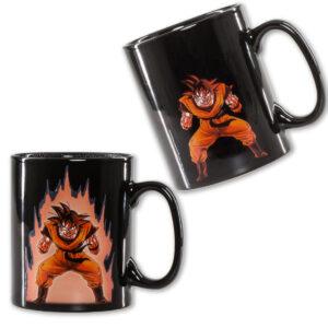 goku kaio ken heat reactive mug