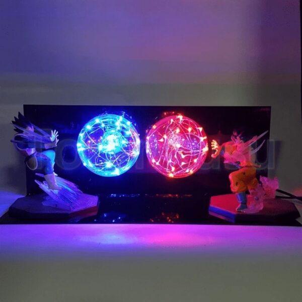 goku kamehameha burst versus vegeta diy 3d lamp