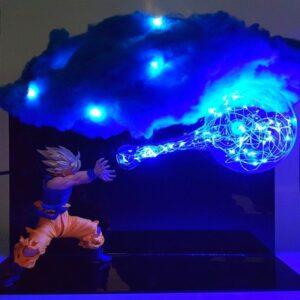 goku kamehameha cloud diy lamp