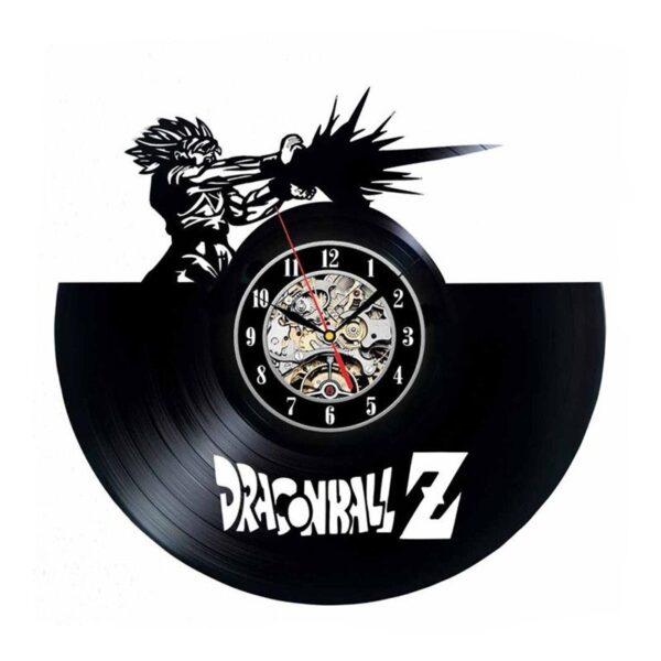goku kamehameha vinyl record wall clock