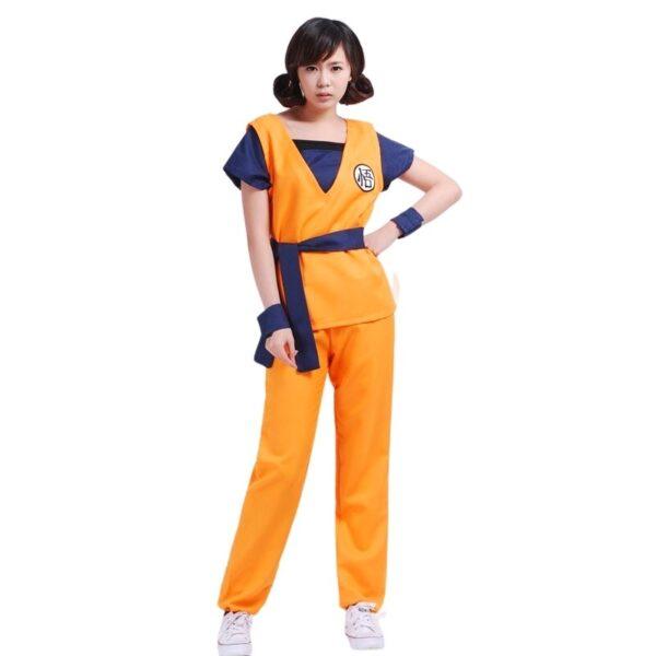 goku kanji training uniform women's cosplay