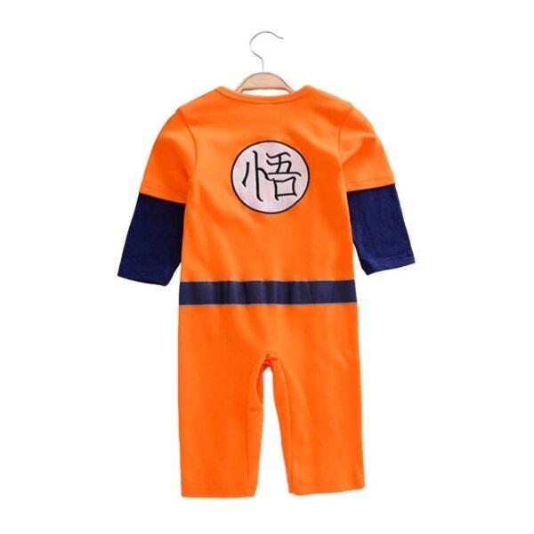 goku orange cosplay onesies for babies 2