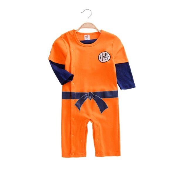 goku orange cosplay onesies for babies
