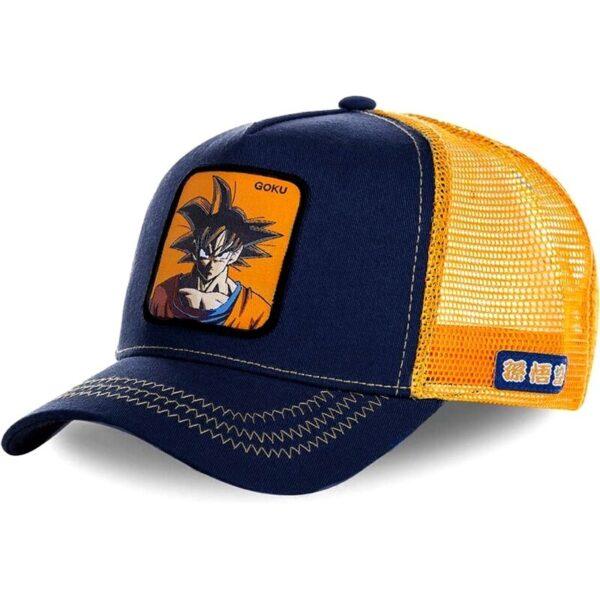 goku orange trucker hat cap