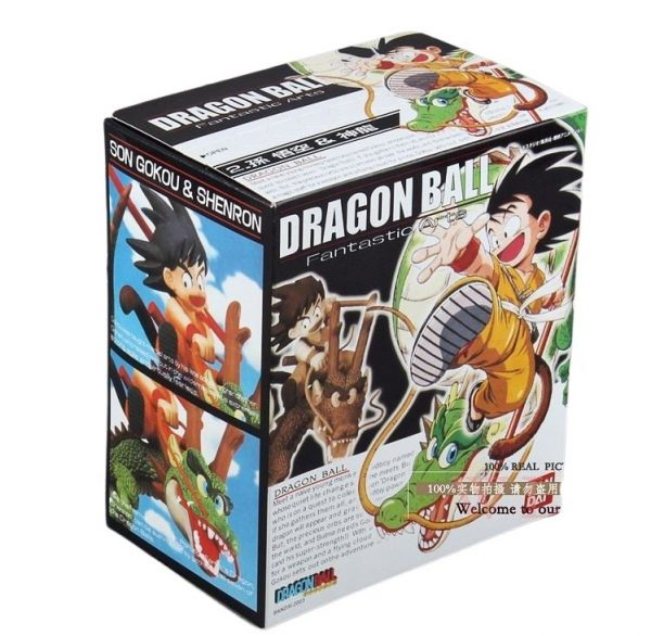 goku riding shenron action figure box