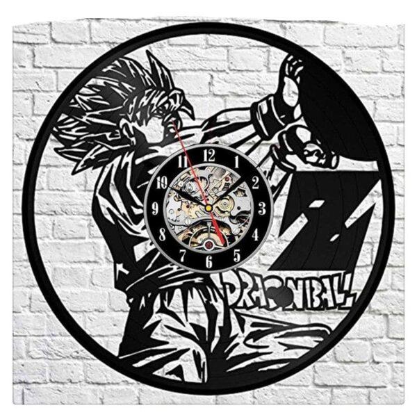 goku ssj2 instant bolt vinyl record wall clock 2