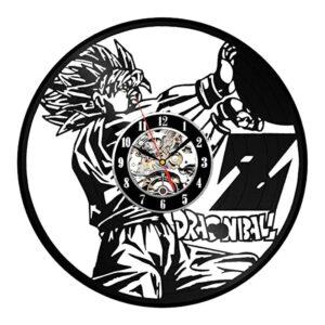 goku ssj2 instant bolt vinyl record wall clock