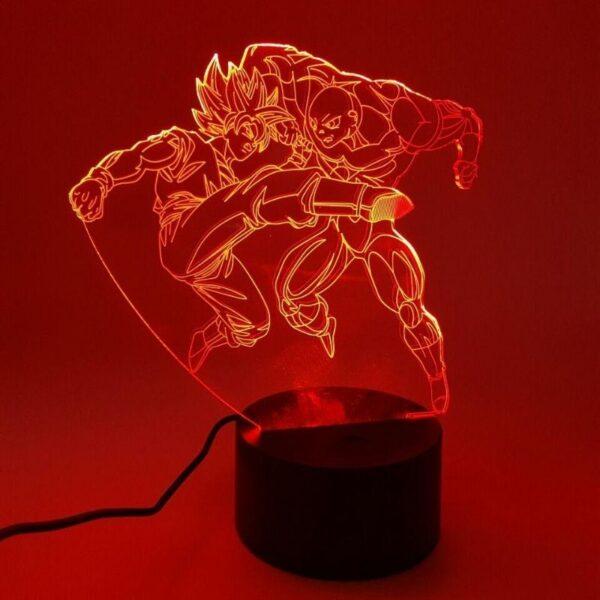 goku ssj2 versus jiren fight rgb 3d illusion lamp red
