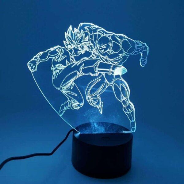 goku ssj2 versus jiren fight rgb 3d illusion lamp white