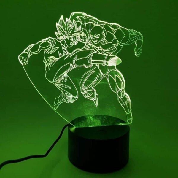 goku ssj2 versus jiren fight rgb 3d illusion lamp yellow