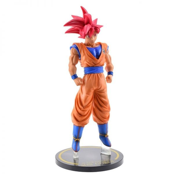 goku saiyan god red hair collectible figure