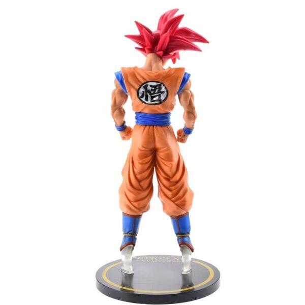 goku saiyan god red hair collectible figure back