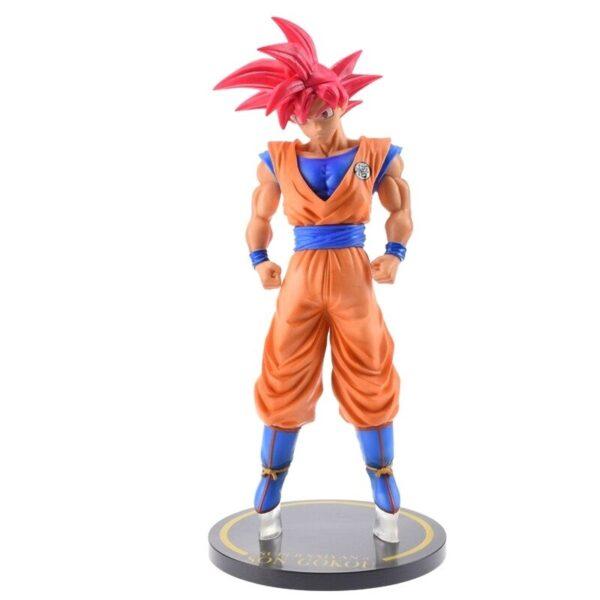 goku saiyan god red hair collectible figure side