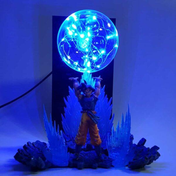 goku spirit bomb blue diy 3d lamp