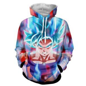 goku super saiyan blue hoodie