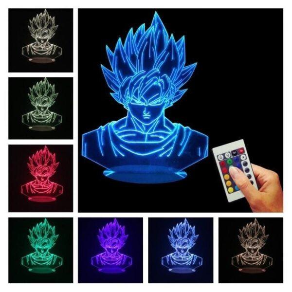 goku super saiyan color changing rgb led lamp