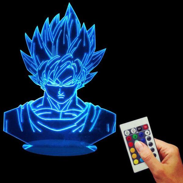 goku super saiyan color changing rgb led lamp blue