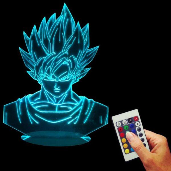 goku super saiyan color changing rgb led lamp sky blue