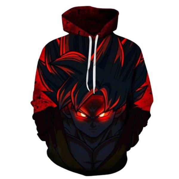 goku super saiyan evil red eyes hoodie
