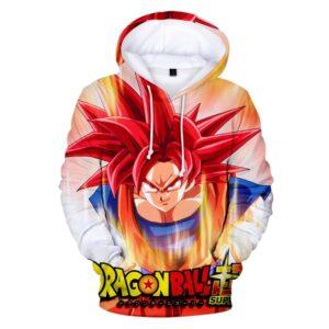 goku super saiyan god hoodie