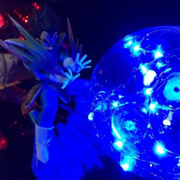 goku vegeta rivals for ever diy 3d lamp blue side