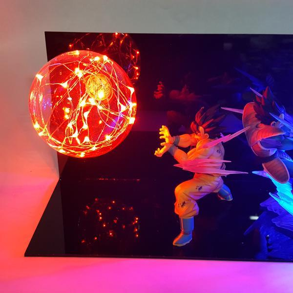 goku vegeta rivals for ever diy 3d lamp red